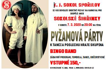 Sokolské šibřinky – Pyžamová party